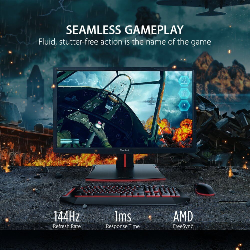 ViewSonic XG2401 24 Inch 1080p 1ms 144 Hz Gaming Monitor with FreeSync