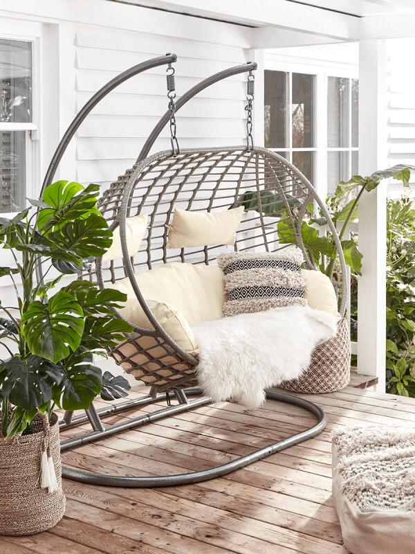 Cox & Cox Indoor Outdoor Double Hanging Chair