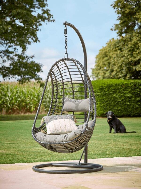 Cox & Cox Slim Black Hanging Chair